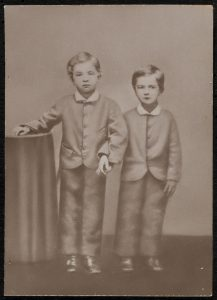 Charles Chesnutt and his brother Lewis in 1865