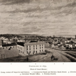 Cleveland, Ohio: Public Square, Looking NW, 1835