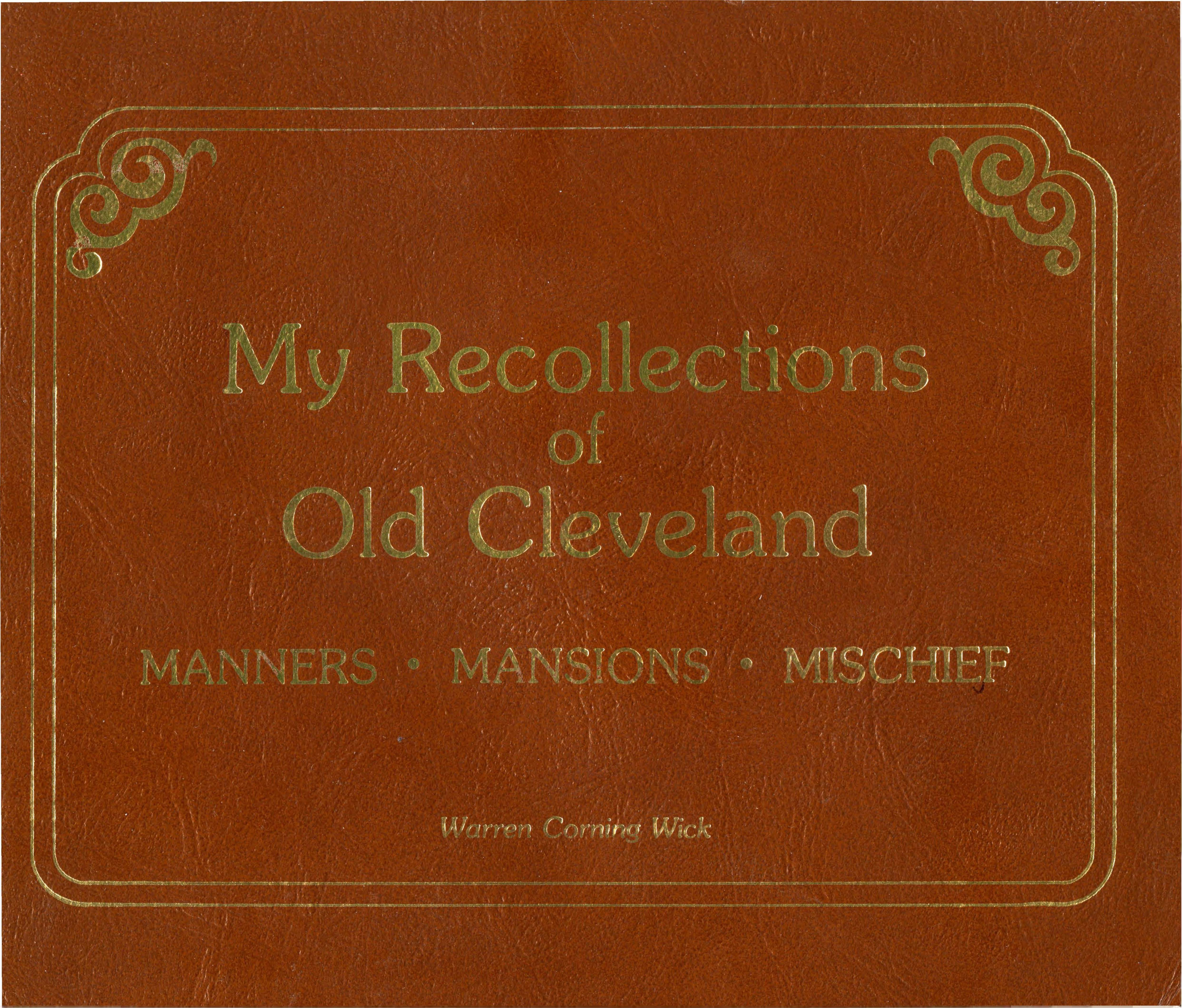Cover image for My Recollections of Old Cleveland