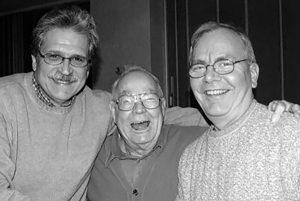 Plain Dealer journalists, from left, Jack Hagan, Don Bean, and Robert McAuley. Courtesy of Robert McAuley.