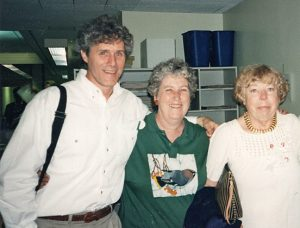Janet Beagle French, center, with Michael O'Malley and Mary Strassmeyer. Photograph by Jane Scott.