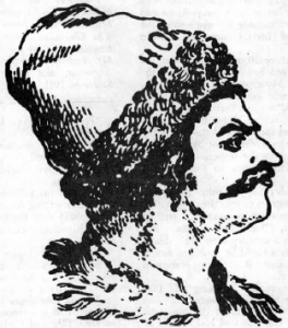 """Horia """"Rex Daciae"""" Leader of the peasant revolution in Transylvania in 1784. (From """"The New Pioneer"""")"""