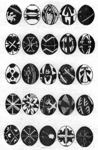 """Romanian Easter Egg designs. (From """"The New Pioneer"""")"""