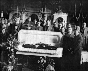 Romanian Funeral Service in the 1920's in St. Mary Orthodox Church, 6201 Detroit Avenue