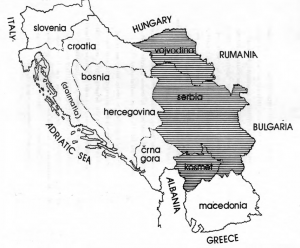 Geographic Location of Serbia within Yugoslavia
