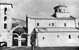 Fig. 11. Sopocani Monastery. Church of the Trinity. Exterior from the 5., 13th and 14th Century. (Photo: L.D. Popovich, 1971).