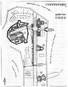 Fig. 1. Caricin Grad. Groundplan of the Excavated Site. 6 Century.