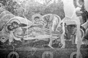 Fig. 2. Nerezi Monastery. Church of St. Pante1eimon. The Lamentation. Fresco, 12th Century. (Photo: Gallery of Frescoes, Belgrade).