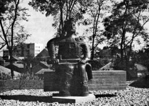 Fig. 30. Krusevac. Bronze Monument of Prince Lazar, 20th Century. Sculptor: Nebojsa Mitric. (Photo: L.D. Popovich, 1971).