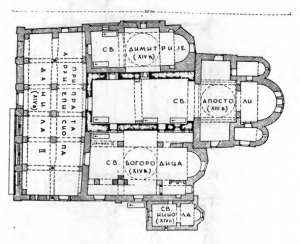 Fig. 9. Pec. The Patriarchate. Groundplan of the Entire Complex, 13th and 14th Century.