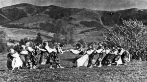 The girls from Lúžna village have their fun.
