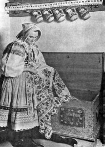 A Woman in National Costume from Viničné