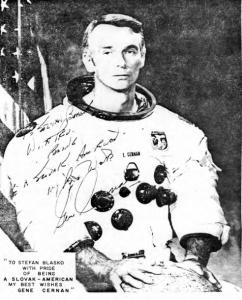 ASTRONAUT EUGENE E. CERNAN (ČERŇAN), COMMANDER OF APOLLO 17 Lunar Landing Mission (Source: ABC SLOVAK LANGUAGE)