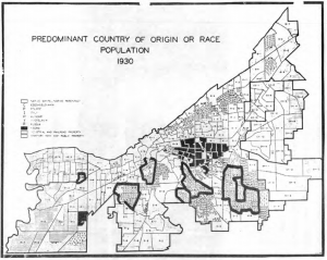 Country of Origin or Race Predominating in Each Census Tract: 1930 (Source: Real Property Inventory, Cleveland)