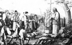 ST. CYRIL & ST. METHOD preaching to Slovak nations.