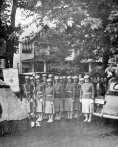 Uniformed Slovak American Girls representing the First Slovak Catholic Union (in 1920's) (from Western Reserve Historical Society Collection)